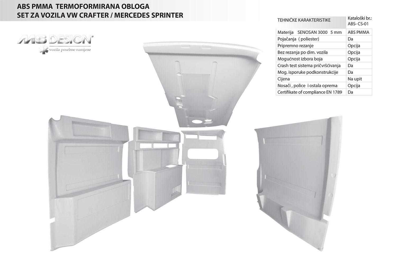 ABS setovi plastike Crafter Sprinter