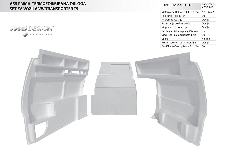 ABS setoci plastike T5